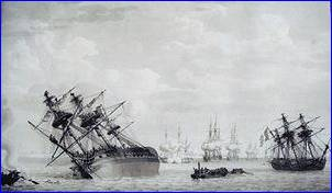 Régulus and Calcutta, both aground
